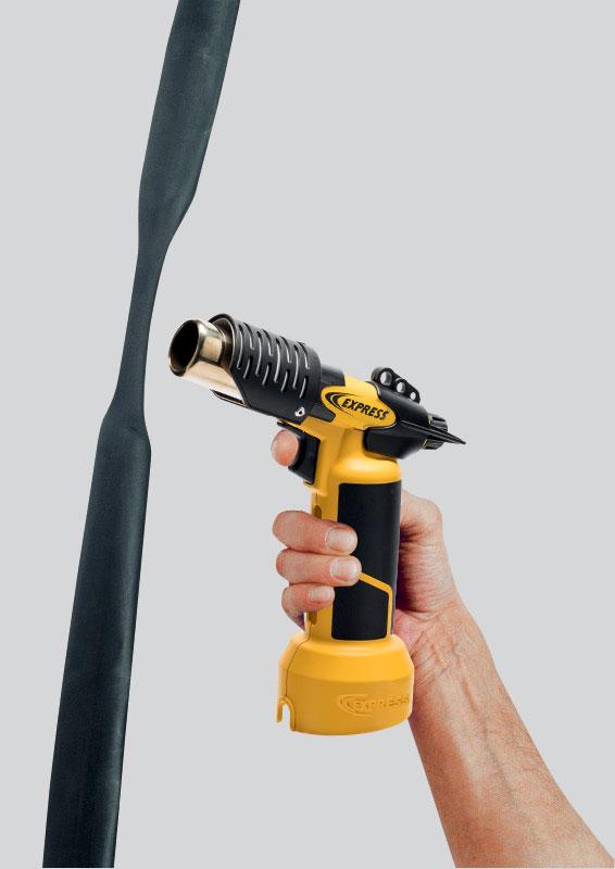 Facile de rétracter des gaines plastiques avec le pistolet autonome air chaud Réf. 4600